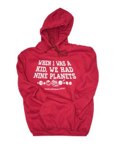 Adult When I Was Kid We Had Nine Planets Hoodie
